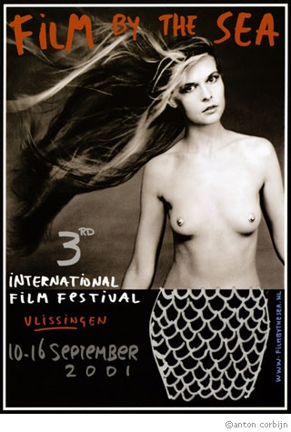 Film By the Sea - Film Festival Mermaid composition by the old classic stand-in-photog of the 80s/90s stars, Anton Corbijn