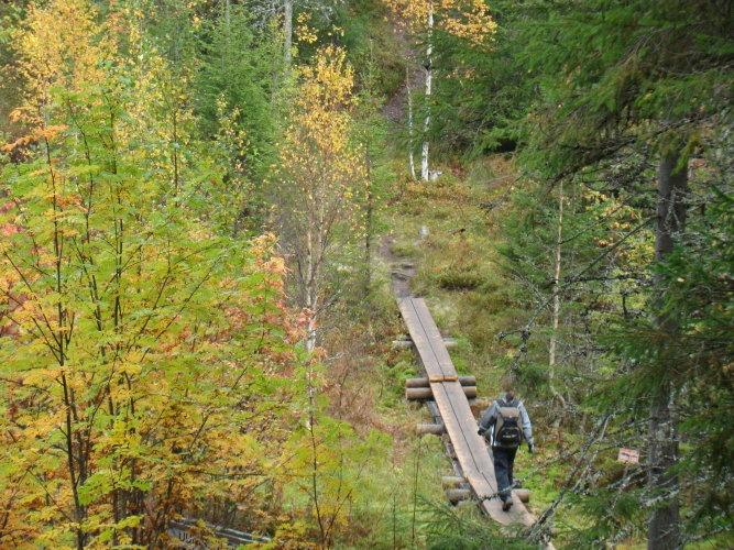 Hiking in Vuokatti, Sotkamo, Finland.