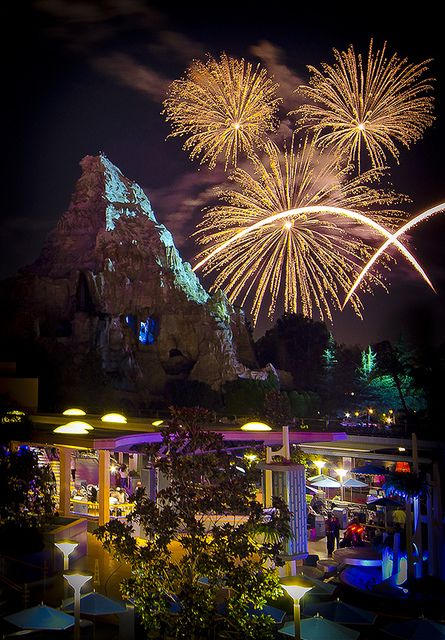 As much as I love watching the fireworks from right in front of the castle I feel I enjoy them just as much from this view. Far less people. : )