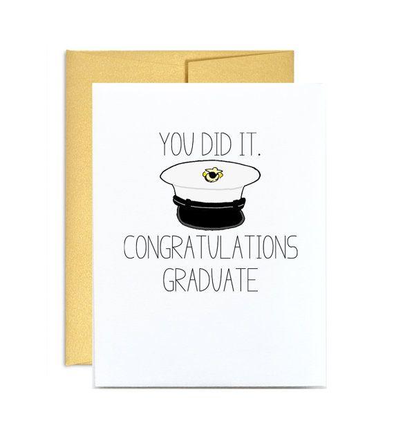 Marine corps graduation card. You did it congratulations graduate. Marine grad military Little Sloth via Etsy.
