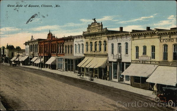 West Side of Square Clinton Missouri:
