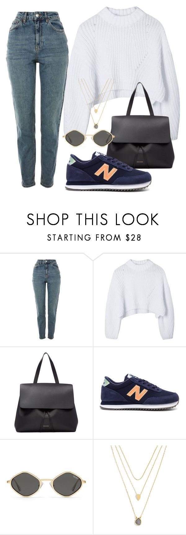 """""""Sin título #3875"""" by camilae97 ❤ liked on Polyvore featuring Topshop, Mansur Gavriel, New Balance and BaubleBar"""