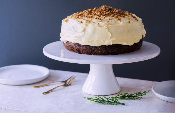 Un-Christmas cake with toffee nut crunch