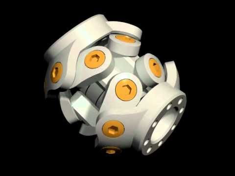 Constant Velocity Joint - 4 Pairs of Spherical Levers - View 4 - YouTube