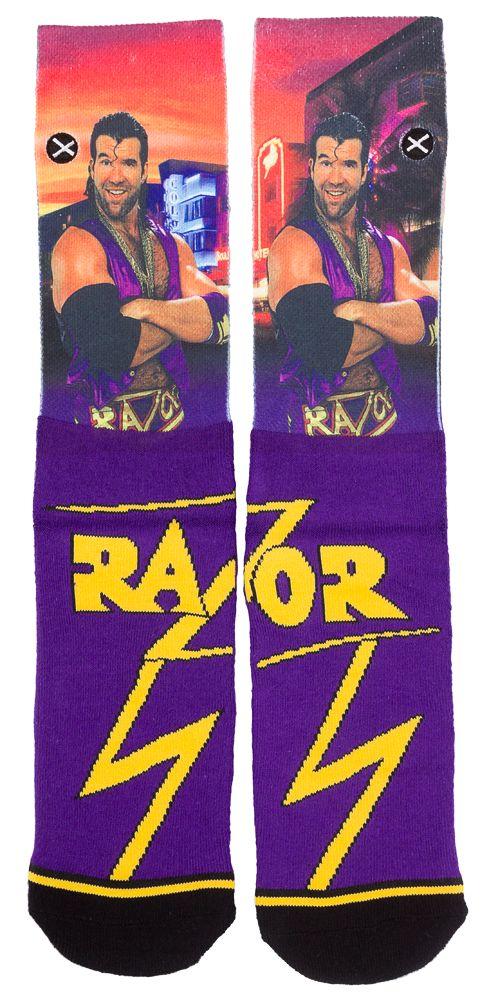 ODD SOX RAZOR RAMON SOCKS $15.00 #oddsox #socks #novelty #wrestling #wwe #wwf #razorramon