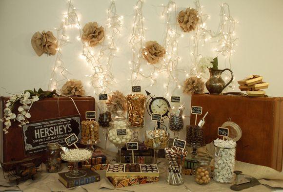 vintage candy buffet ideas | Candy Buffet – nostalgia e alegria