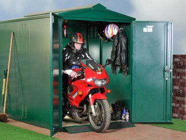 "Motorcycle Storage Shed, 9ft x 5ft 2"" Motorbike Garage -  Asgard"