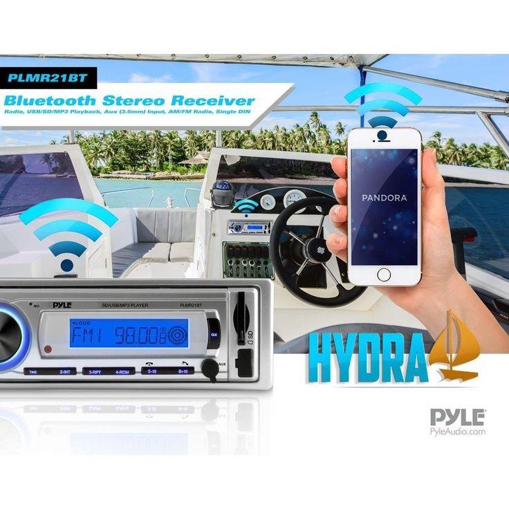 Boat Radio Bluetooth Marine Yacht Receiver USB/SD/MP3 AM/FM Radio Remote New #BoatRadioBluetoothMarineYachtReceiver #Custom