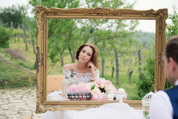 Bride in the frame