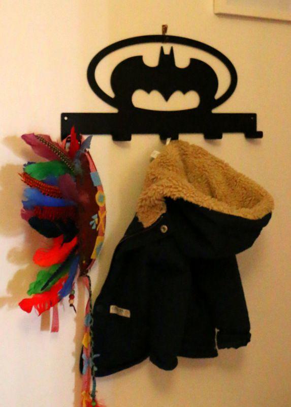 wall mounted coat rack - bat theme