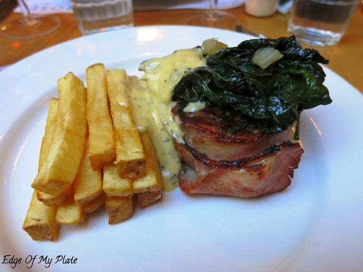 Edge Of My Plate: The Rose Diner And Bar - Filet Mignon (Beef, Chips, Silverbeet and Sauce Bearnaise)