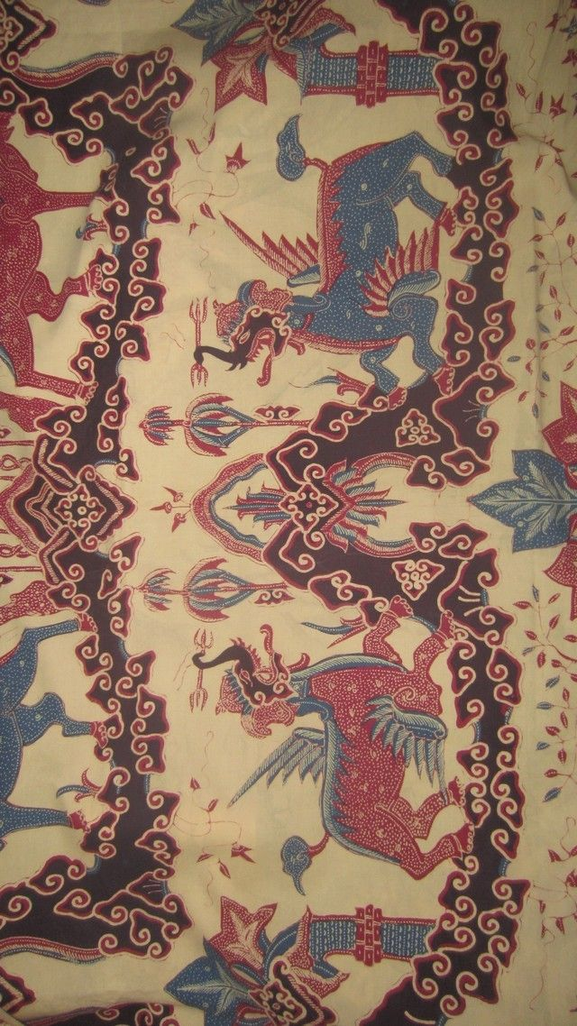 Old batik tulis from Cirebon, West Java