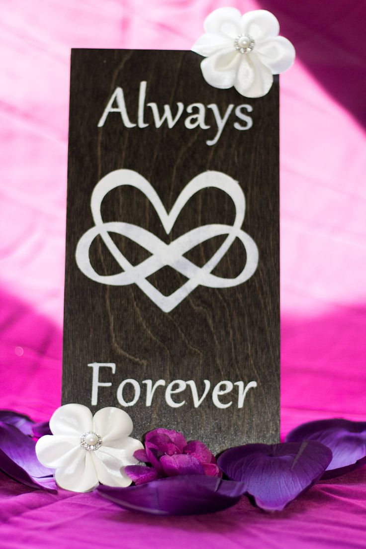 Always & Forever Infinity Wood Sign by DazzlingCreationsCA on Etsy