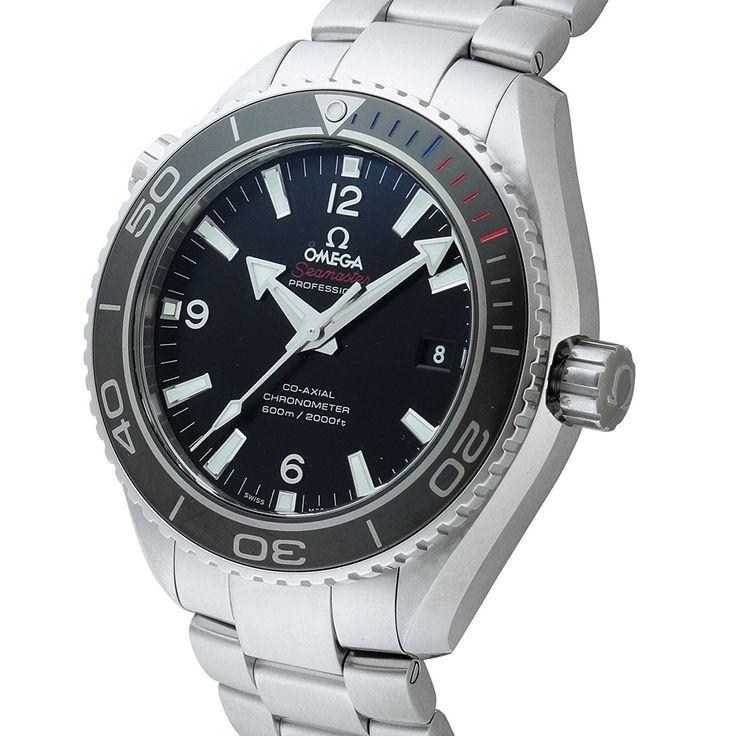 Amazon|[オメガ]OMEGA 腕時計 シーマスター プラネットオーシャン ブラック文字盤 コーアクシャル自動巻 600M防水 522.30.46.21.01.001 メンズ 【並行輸入品】|海外ブランド 通販