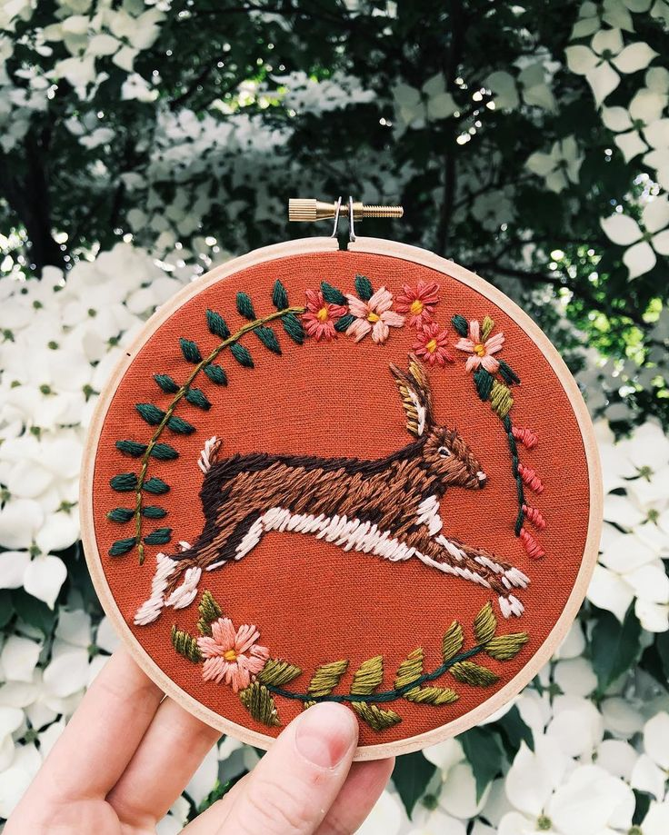 embroidered rabbit by tessa perlow