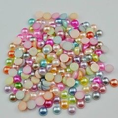 2000PCS Mixs Color Flatback Semicircle Pearl Gems 3mm Handmade DIY Craft Material/Clothing Accessories