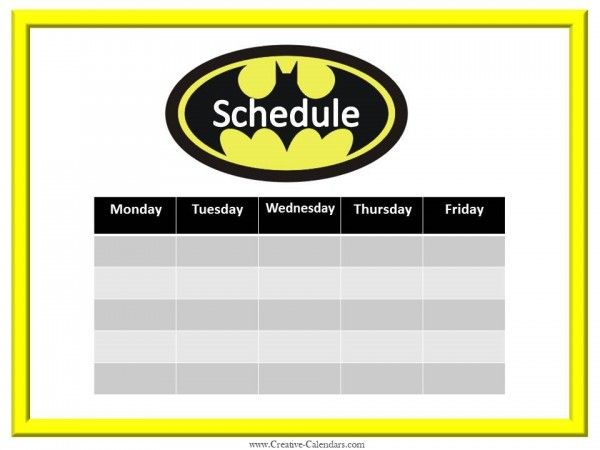 17 best ideas about Weekly Calendar Template – Free Weekly Calendar Template