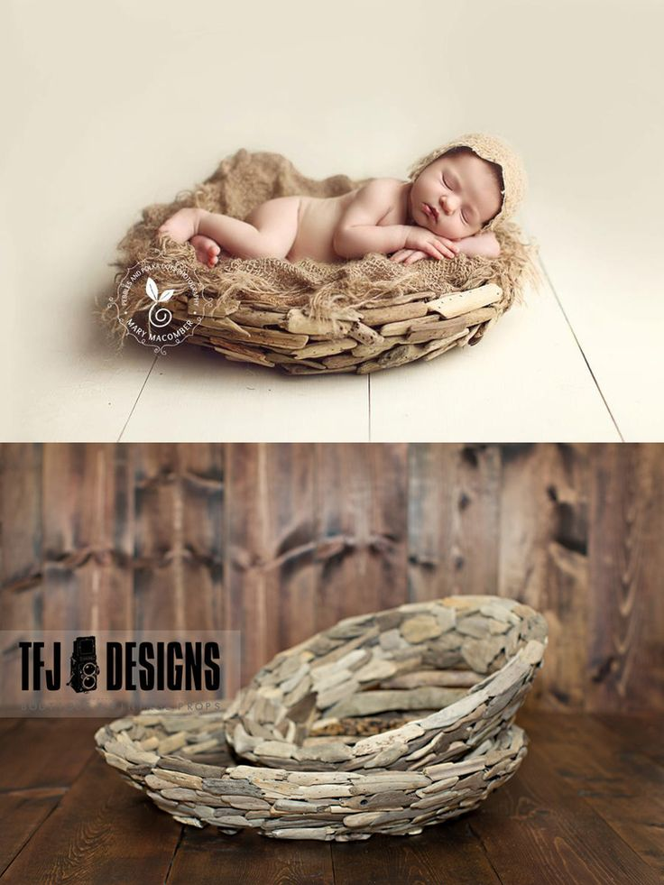 Driftwood Bowls - TWO Sizes - Newborn Photography Prop - NEW, $45.00 by TFJ Designs