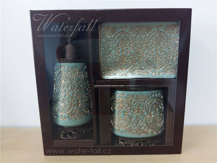 Brown And Turquoise Bathroom Accessories