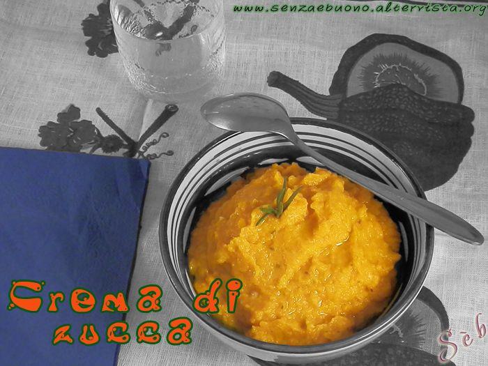 Crema di zucca e cannellini #senzaglutine, @vegan e @senzasoia http://senzaebuono.altervista.org/crema-di-zucca-e-fagioli-cannellini/