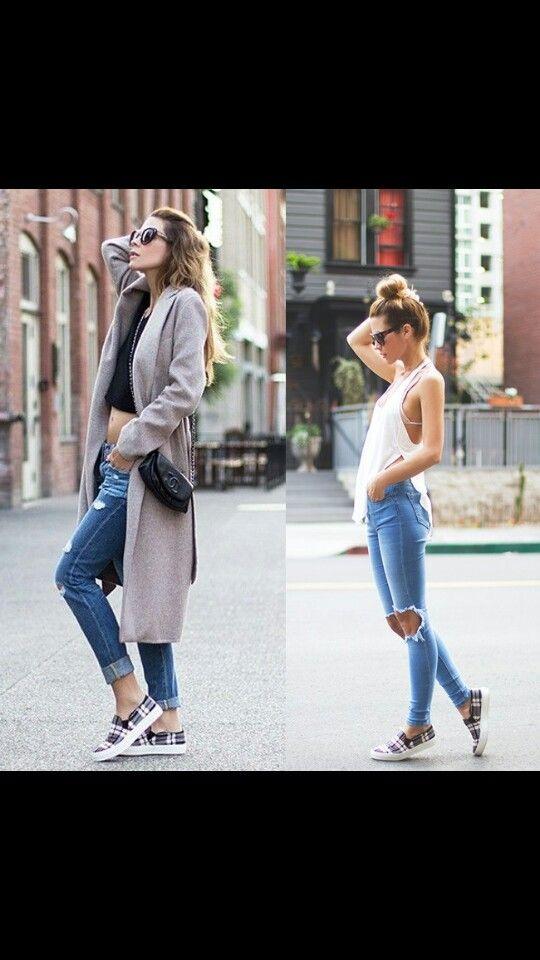 Los jeans  rotos volvieron a la tendencia de la moda ¿que les parece?
