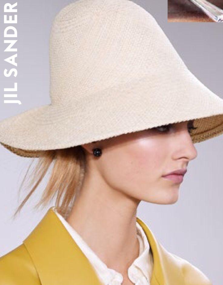 Jil Sander #straw hat #summer spring