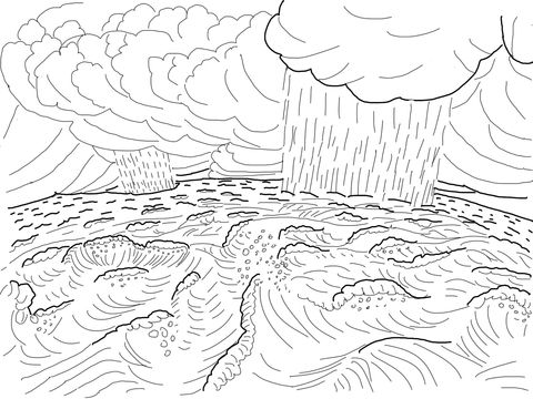 Second Day Of Creation Coloring Page From Story Category Select 21162 Printable Crafts