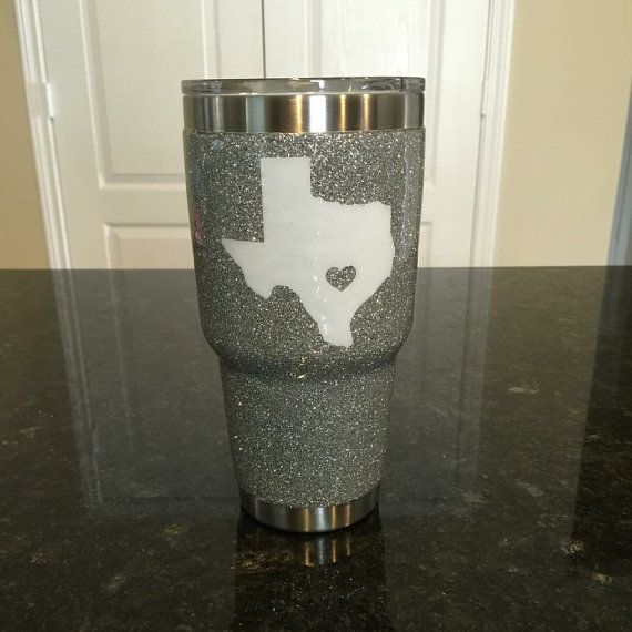 Glitter YETI Rambler Tumbler 30 oz with decal by ARanchersDaughter