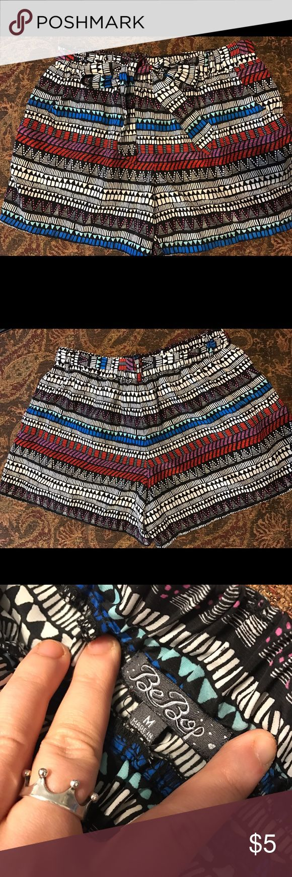 Printed Aztec Shorts Super cute Aztec shorts! This print is fabulous, has a matching belt that ties into a bow! The material is a silky texture Shorts