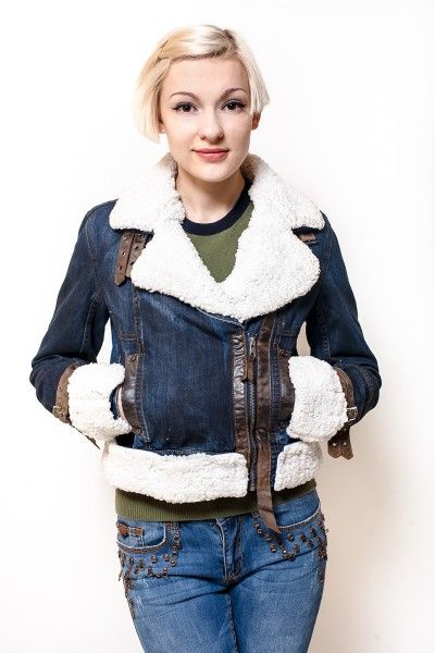 Женские джинсовые куртки с мехом фото | Джинсовая мода 2015