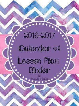 Watercolor-Themed Teacher Calendar & Lesson... by Shawnee's Session   Teachers Pay Teachers