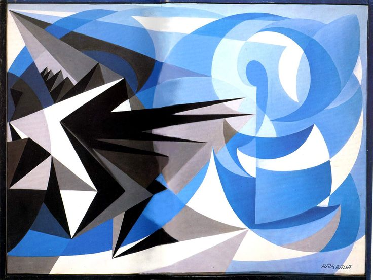 Giacomo Balla - Pessimism and Optimism, 1923, oil on canvas