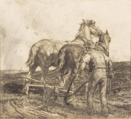 Turning the plough, 1920, Hans Heysen