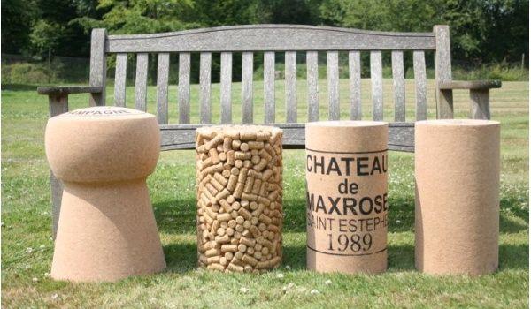 Wine cork stools