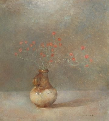Jan Mankes (Meppel 1889-1920 Eerbeek) A jar with bottle heath - Dutch Art Gallery Simonis and Buunk Ede, Netherlands.