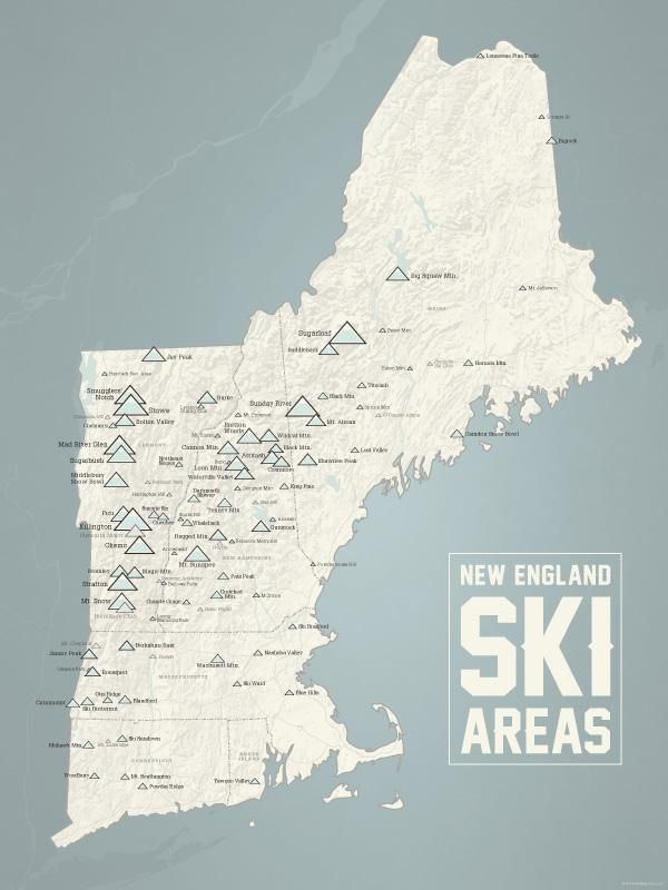 Map Of Paris And Attractions%0A New England Ski Resorts Map   x   Poster