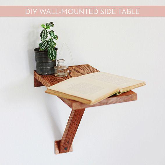 Make It: Easy DIY Wall-Mounted Side Table | Diy nightstand ...