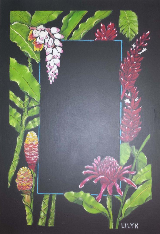Ginger Flower Blackboard Message Board