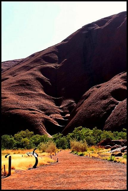 Hike around Ayers Rock, Australia