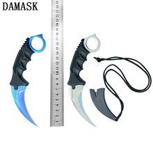 Лучшие Продажи Бесплатная Доставка Дамаск CSGO Counter Strike Коллекционные Karambit Открытый Ножи Охотничьи Ножи Кемпинг Нож SurvivalTools(China (Mainland))