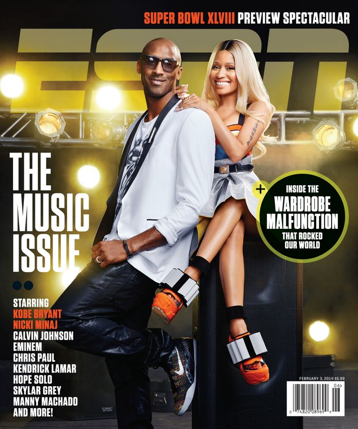 Kobe Bryant & Nicki Minaj on the cover of The Music Issue of ESPN magazine.