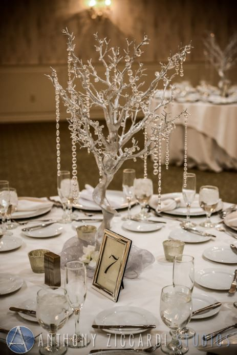 Winter Wedding Table Set Up Minerals Resort And Spa