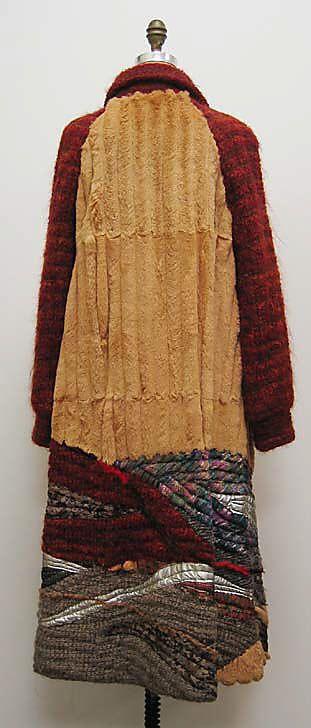 Coat Koos van den Akker (American, born Netherlands, 1939)  Manufacturer: Ben Kahn Furs Date: ca. 1980 Culture: American Medium: fur, leather, wool, silk, synthetic. Back