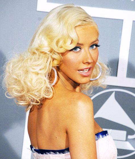 Christina Aguilera's Hair Evolution: February 11, 2007