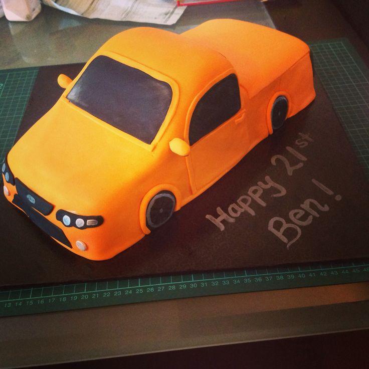 how to make a ute cake step by step