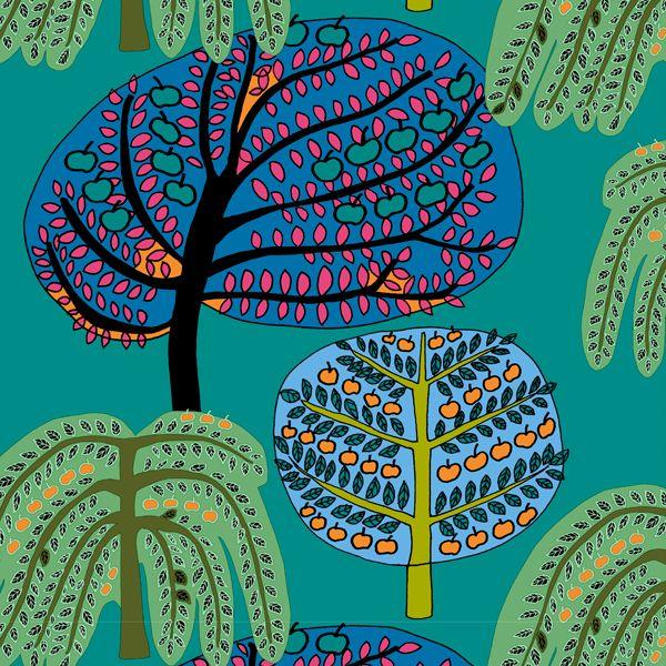 Sadonkorjuu fabric by Marimekko