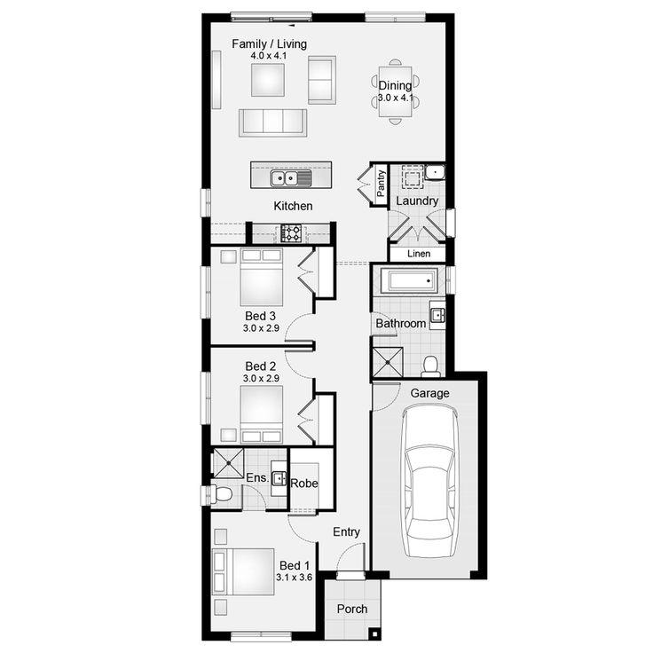 Soho 15 || Floor Plan - 139.20sqm, 8.40m width, 18.50m depth || Clarendon Homes Floor Plans