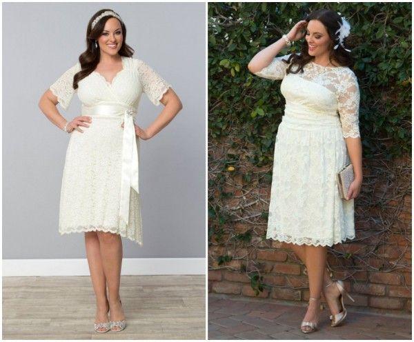 plus size vintage wedding dress - curvy bride, lace dress