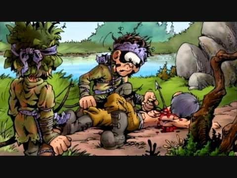 Le Donjon de Naheulbeuk est à l'origine une saga MP3, créée en 2001 par John Lang (alias Pen Of Chaos ou PoC) et diffusée gratuitement sur Internet. Parfois considérée comme la pionnière des feuilletons audio sur internet, elle a été transposée en bandes dessinées et en romans. « Un délire Internet » devenu « phénomène de librairie ». La célèbre bd des héros de ce jeu de rôle saignant et décapant arrive enfin au cdi.