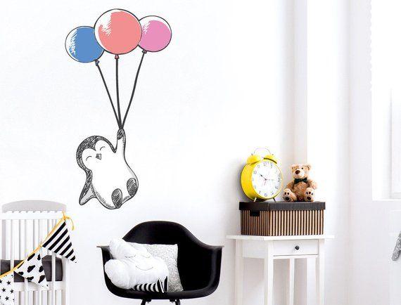 Schablone Elefant mit Luftballons auf A4